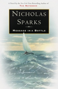 Cover of book Message in a Bottle by Nicholas Sparks