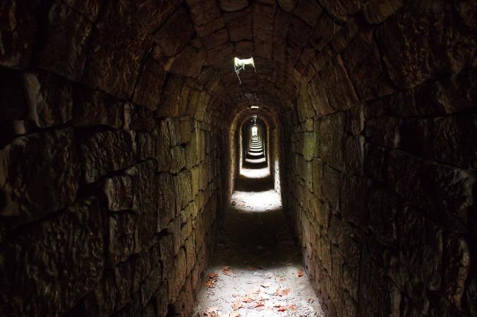 photo of dark tunnel