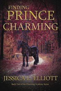 Finding Prince Charming cover image. A horse standing on a path in the woods. The path is covered in red and orange leaves.