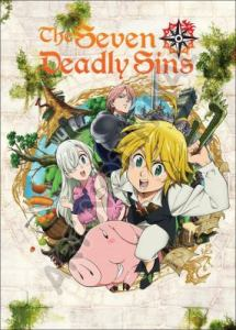 Cover image features characters from the show The Seven Deadly Sins