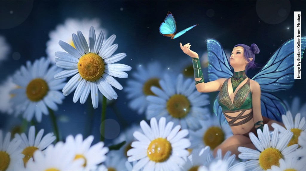 Fairy in a field of flowers